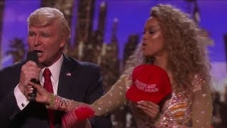 Watch Donald Trump Losing the Vote and Grabbing Tyra Banks HOT Mic | America