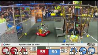 FRC FIRST STEAMWORKS Robotics Utah Regional Qualification 21 of 80, March 10th, 2017
