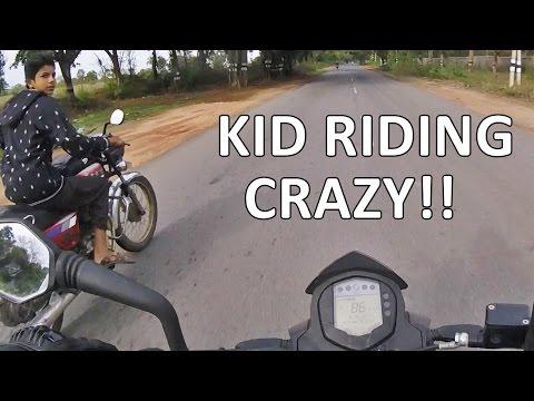 CRAZY KID ON BIKE! - Ride to Hosur - GoPro POV Adventures