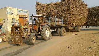 FIAT 640 Tractor in Action | FIAT 640 Tractor sa Dosry Trally ki Lad sidey karty howy must watch