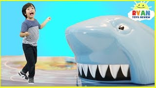 Shark Chase Family Fun Board Games for Kids with Eggs Surprise Toys Opening