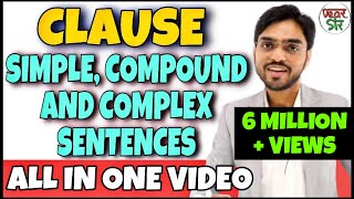 Simple Compound and Complex Sentences   English Grammar Lessons   Clauses in English Grammar