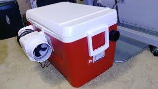 Portable Air Conditioner - Homemade, DIY - Version 1, 12V, Solar Power