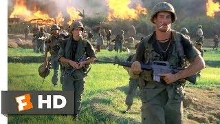 Platoon (1986) - Burning the Village Scene (4/10) | Movieclips