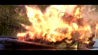 Airboat Explosion! - Swamp Thing (1982)