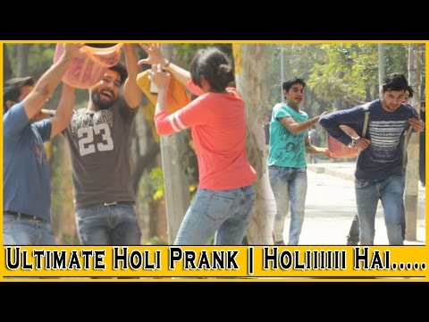 Ultimate Holi Prank 2017 on Cute Girls - Prank In India 2017 | THF - Ab Mauj Legi Dilli
