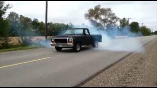 1979 ford f100 408 big block burnout!!