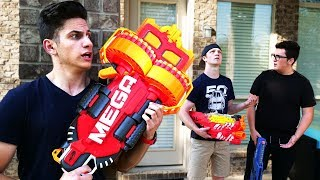 NERF WAR : EXTREMELY POWERFUL GUNS! (With UnspeakableGaming)
