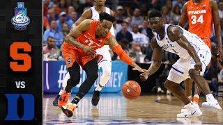 Syracuse vs. Duke ACC Basketball Tournament Highlights (2019)
