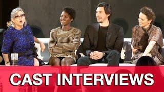 STAR WARS THE FORCE AWAKENS Cast Interviews - Carrie Fisher, Daisy Ridley, Adam Driver, JJ Abrams