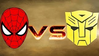 BUMBLEBEE ARMY VS SPIDERMAN ARMY - MASSIVE SUPERHEROES WAR - MARVEL VS TRANSFORMER