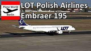 LOT Polish Airlines Embraer 195 takeoff from Berlin Tegel Airport