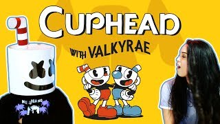 Battling Cuphead Bosses w/ Valkyrae | Gaming with Marshmello