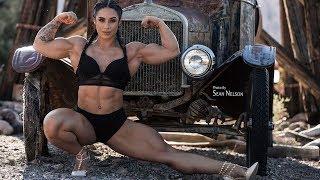 Shredded Muscles Girl Kristina Nicole Mendoza - CRAZY WORKOUT