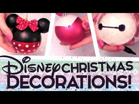 8 Super Easy D.I.Y Disney Christmas Decorations!