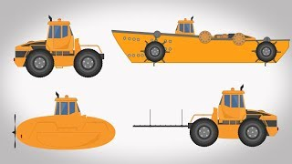 Transformer | Ship Submarine | Utility Truck | Vehicles Video For Kids