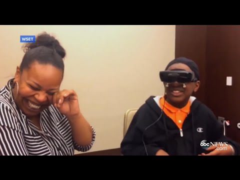 Blind Boy Sees Mom for First Time