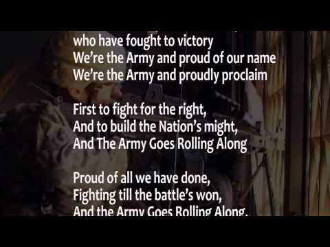 watch The Army Song (with lyrics) performed by The United States Army Band w scrolling