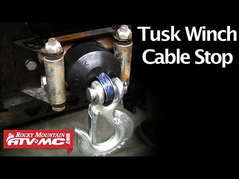 Tusk Rubber Winch Cable Stop - Spotlight & Installation
