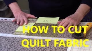 Tips for Cutting Quilt Fabric