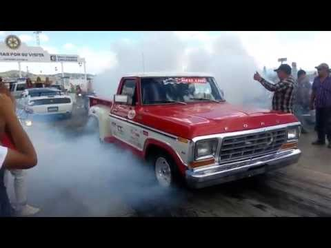 Best Drag Race Moto Hayabuza 1300cc twin turbo vs 79 Ford Mass Flow Carrera Arrancones Mejores Mundo