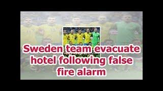 Sweden team evacuate hotel following false fire alarm