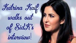 Katrina Kaif walks out of Siddharth Kannan's interview!!