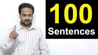 100 English Sentences You Can Use in Conversation | Spoken English for Beginners | Short Sentences