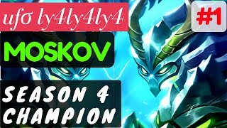 Season 4 Champion [Rank 44 Ranked] | Moskov Gameplay and Build By uƒσ ly4ly4ly4 Mobile Legends