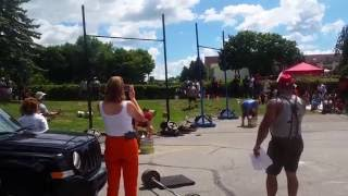 Keg Toss - 4th Annual Michigan Strongman 2016 Heavy Weight Novice
