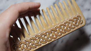 DIY Celtic Carved Comb