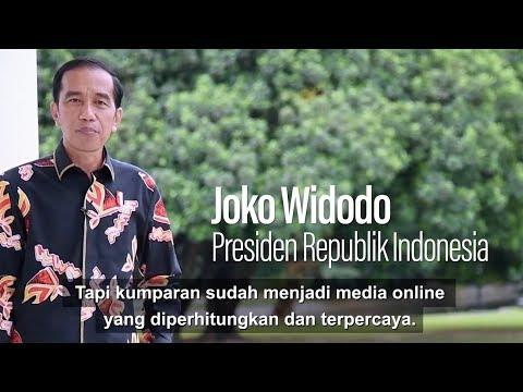 Ucapan Selamat Ulang Tahun Pertama kumparan dari Presiden Jokowi