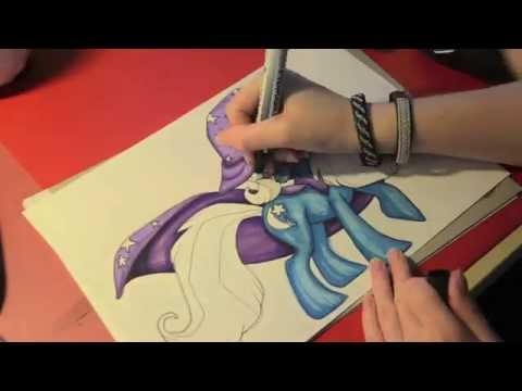 Speed drawing MLP - The Great and Powerful Trixie