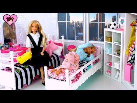 Xxx Mp4 Barbie Dolls School Morning Routine Videos Back To School Videos For Kids 3gp Sex