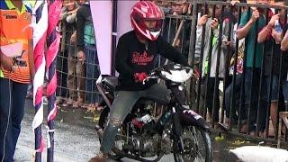 SALUUT ; Joki Pemula MEMBERANIKAN Diri Ikut Drag Bike Resmi . SEMANGAT GAES..