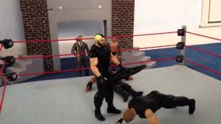 WWE Seth Rollins Turns on the Shield (stop motion)