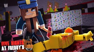 Minecraft: FIVE NIGHTS AT FREDDY'S #96 - A VIGIA MATOU A CHICA!!!