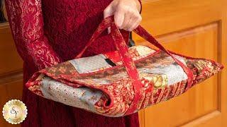 How to Make a Quilt-As-You-Go Casserole Caddy | Shabby Fabrics