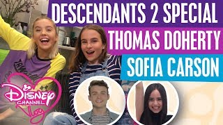 DISNEY CHANNEL VLOG | DESCENDANTS 2 SPECIAL | SOFIA CARSON | THOMAS DOHERTY PLAYS 2 TRUTHS AND A LIE