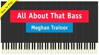 Meghan Trainor - All About That Bass - How To Play Piano Tutorial (Intermediate Version)