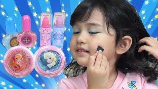 アナ雪メイクセットでおしゃれしてみました♫ 子供 お化粧 Frozen Makeup set himawari-CH