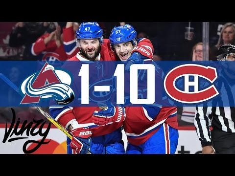 Canadiens vs Avalanche | 10-1 | Highlights | Dec. 10, 2016 [HD]