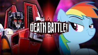 Starscream VS Rainbow Dash | DEATH BATTLE! | ScrewAttack!