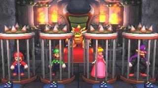 Mario Party The Top 100 Minigames - Mario Vs Peach Vs Luigi Vs Waluigi