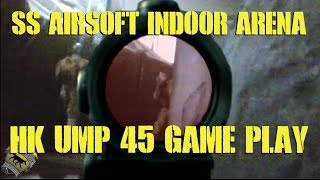 DesertFox Airsoft: SS Airsoft Arena HK UMP 45 Gameplay (Nuclear Threat Game)