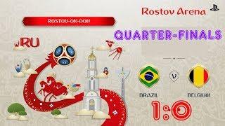 Brazil - Belgium,  FIFA 18 World Cup 2018 Russia Prediction Games (Quarter-Finals)