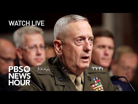 WATCH LIVE James Mattis confirmation hearing