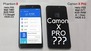TECNO Camon X Pro vs Phantom 8 - Speed test, Antutu Benchmarks and RAM Management Comparison