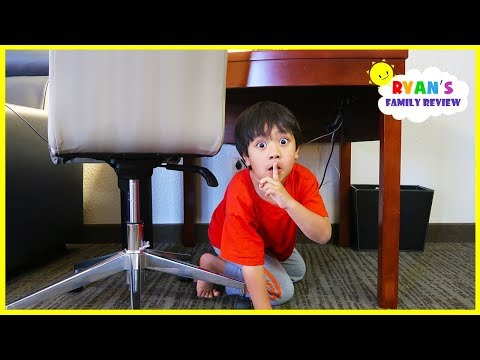 Ryan plays Hide and Seek in a Hotel with Mommy and Daddy