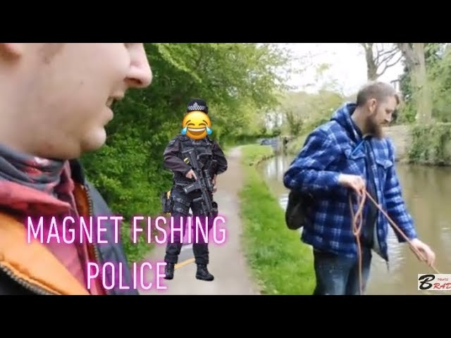 Police get us for magnet fishing